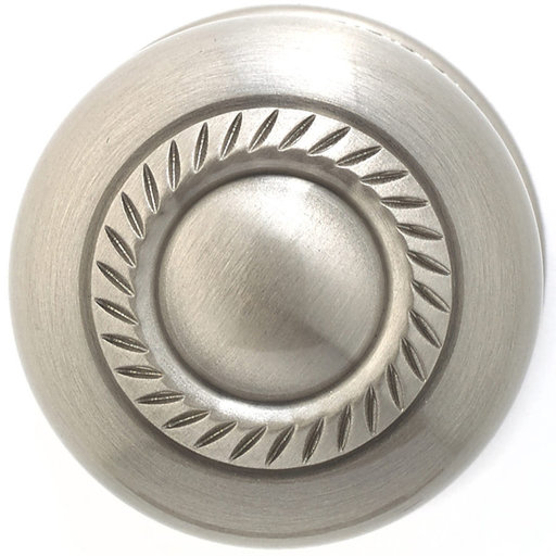 """View a Larger Image of Traditional Knob, 1-1/2"""" D, Brushed Nickel"""