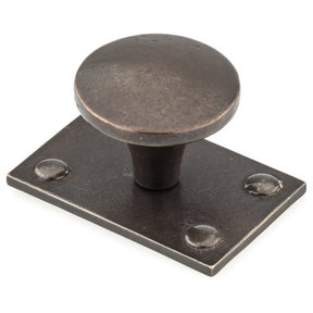 "Traditional Knob, 1-1/2"" D, Durham Bronze"