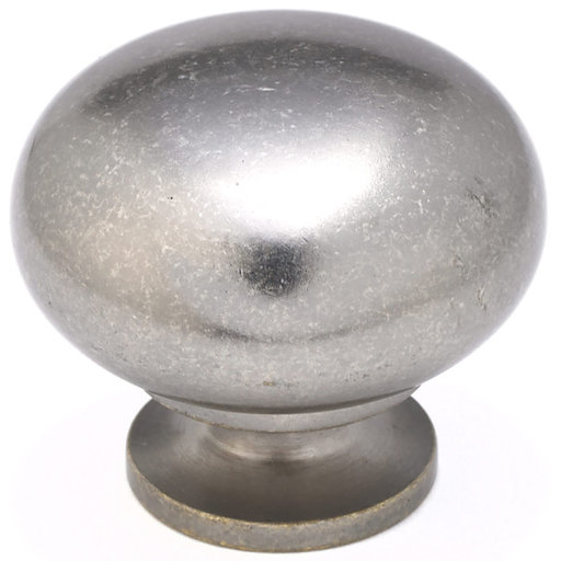 """View a Larger Image of Traditional Knob, 1-1/2"""" D, Pewter"""