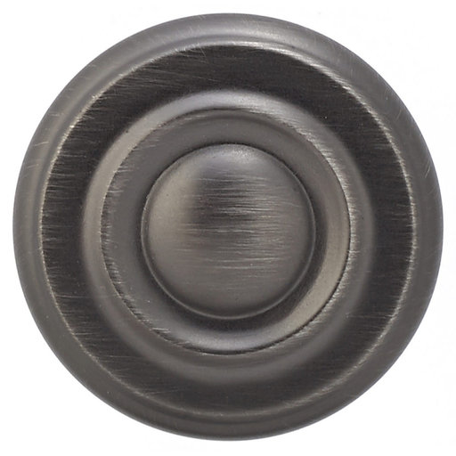 """View a Larger Image of Traditional Knob, 1-1/4"""" D, Antique Nickel"""