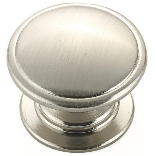 """View a Larger Image of Traditional Knob, 1-1/4"""" D, Brushed Nickel"""