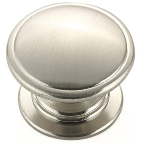 """Traditional Knob, 1-1/4"""" D, Brushed Nickel"""