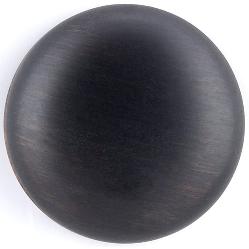 """View a Larger Image of Traditional Knob, 1-1/4"""" D, Brushed Oil-Rubbed Bronze"""