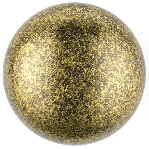 """View a Larger Image of Traditional Knob, 1-1/4"""" D, Burnished Brass"""