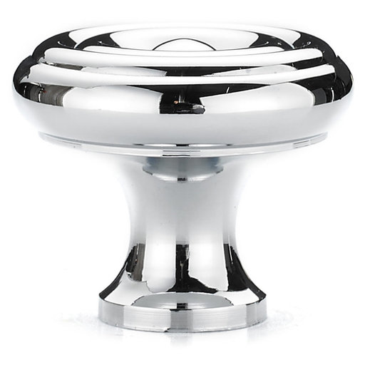 """View a Larger Image of Traditional Knob, 1-1/4"""" D, Chrome"""