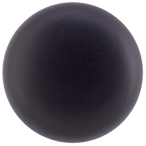"""View a Larger Image of Traditional Knob, 1-1/4"""" D, Matte Black"""