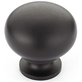"""Traditional Knob, 1-1/4"""" D, Oil-Rubbed Bronze"""