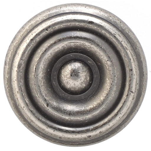 """View a Larger Image of Traditional Knob, 1-1/4"""" D, Pewter"""