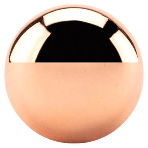 """View a Larger Image of Traditional Knob, 1-1/4"""" D, Polished Copper"""