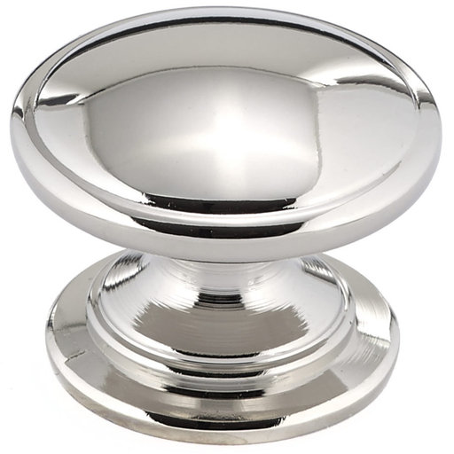 """View a Larger Image of Traditional Knob, 1-1/4"""" D, Polished Nickel"""