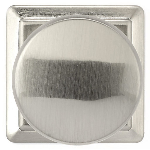 """View a Larger Image of Traditional Knob, 1-1/4"""" x 1-1/4"""", Brushed Nickel"""