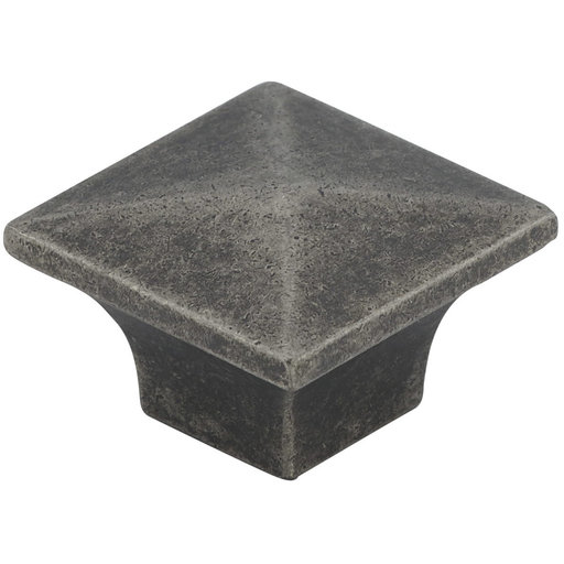 """View a Larger Image of Traditional Knob, 1-1/4"""" x 1-1/4"""", Pewter"""