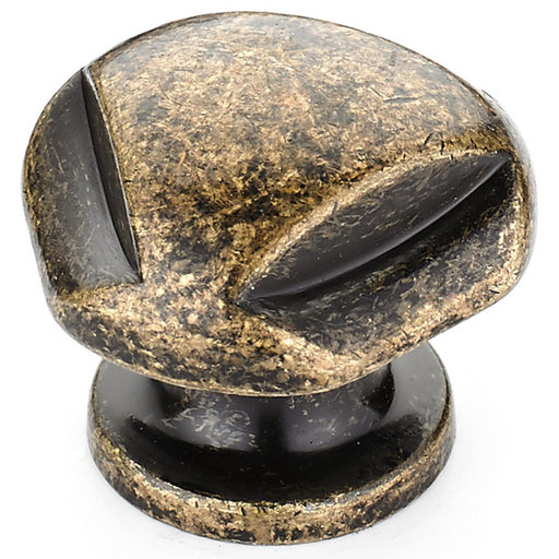 """View a Larger Image of Traditional Knob, 1-1/8"""" D, Burnished Brass"""
