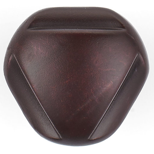 """View a Larger Image of Traditional Knob, 1-1/8"""" D, Rust"""