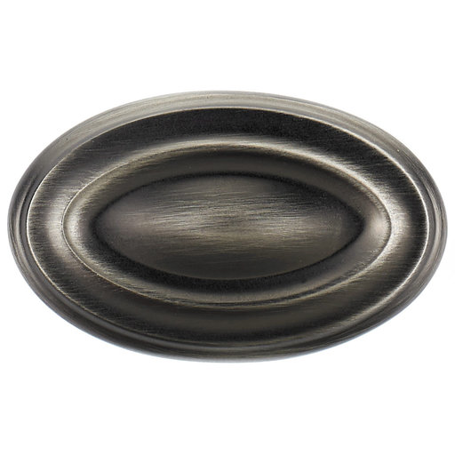 """View a Larger Image of Traditional Knob, 1-11/16"""" x 1-1/16"""", Antique Nickel"""