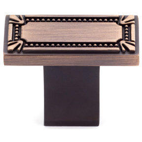 """Traditional Knob, 1-11/16"""" x 7/8"""", Brushed Oil-Rubbed Bronze"""