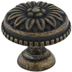 "Traditional Knob, 1-3/16"" D, Antique English"
