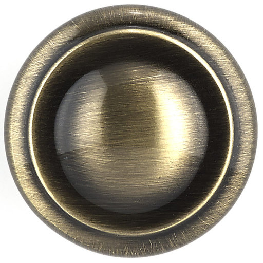 """View a Larger Image of Traditional Knob, 1-3/16"""" D, Antique English"""