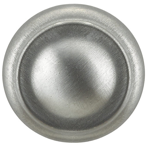 """View a Larger Image of Traditional Knob, 1-3/16"""" D, Brushed Chrome"""