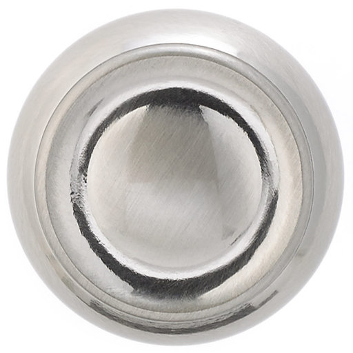 """View a Larger Image of Traditional Knob, 1-3/16"""" D, Brushed Nickel"""
