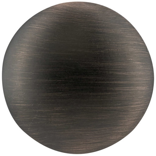 """View a Larger Image of Traditional Knob, 1-3/16"""" D, Brushed Oil-Rubbed Bronze"""