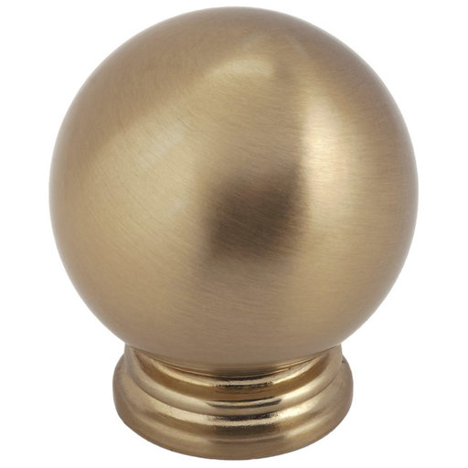 """View a Larger Image of Traditional Knob, 1-3/16"""" D, Champagne Bronze"""