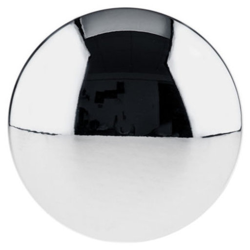 """View a Larger Image of Traditional Knob, 1-3/16"""" D, Chrome"""