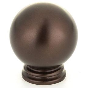 "Traditional Knob, 1-3/16"" D, Honey Bronze"