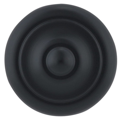 """View a Larger Image of Traditional Knob, 1-3/16"""" D, Matte Black"""