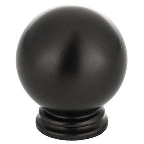 "Traditional Knob, 1-3/16"" D, Matte Black"