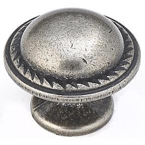 "Traditional Knob, 1-3/16"" D, Natural Iron"