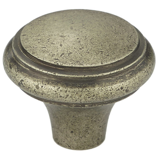 """View a Larger Image of Traditional Knob, 1-3/16"""" D, Pewter Bronze"""