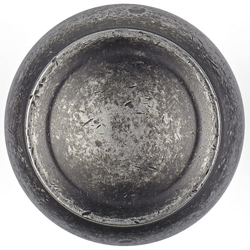 """View a Larger Image of Traditional Knob, 1-3/16"""" D, Pewter"""