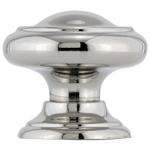"""View a Larger Image of Traditional Knob, 1-3/16"""" D, Polished Nickel"""