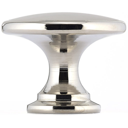 """View a Larger Image of Traditional Knob, 1-3/4"""" D, Polished Nickel"""