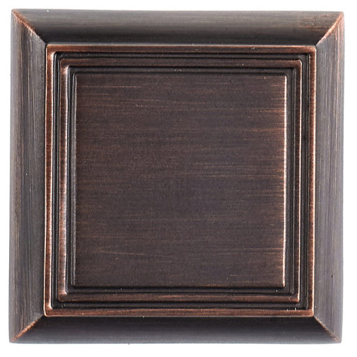 """View a Larger Image of Traditional Knob, 1-3/8"""" x 1-3/8"""", Brushed Oil-Rubbed Bronze"""