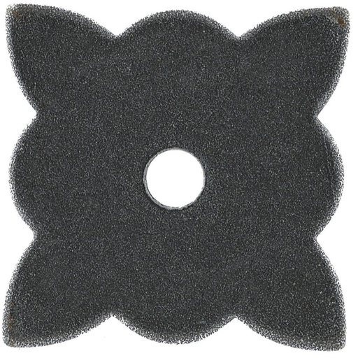 """View a Larger Image of Traditional Knob Backplate, 1-3/8"""" x 1-3/8"""", Natural Iron"""
