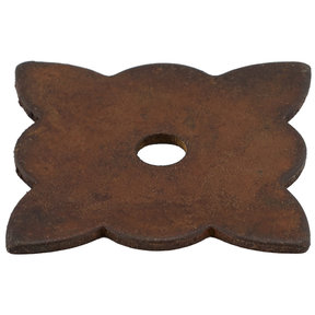"Traditional Knob Backplate, 1-3/8"" x 1-3/8"", Rust"