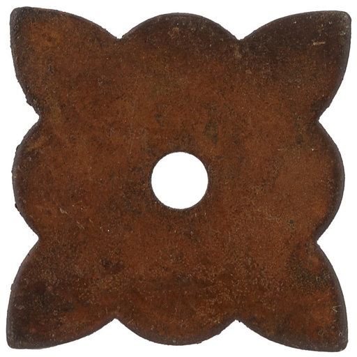"""View a Larger Image of Traditional Knob Backplate, 1-3/8"""" x 1-3/8"""", Rust"""