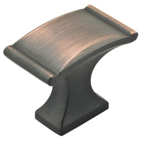 """Traditional Knob, 1-3/8"""" x 25/32"""", Brushed Oil-Rubbed Bronze"""