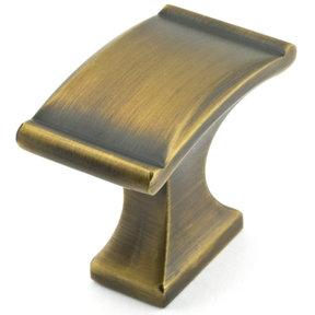 "Traditional Knob, 1-3/8"" x 25/32"", Chocolate Bronze"