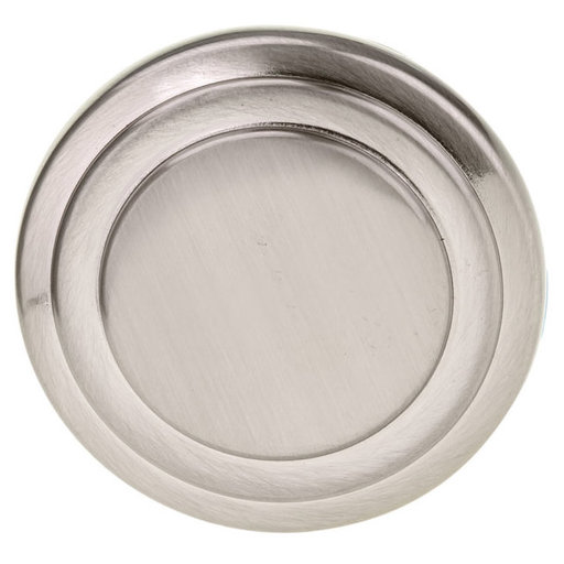 """View a Larger Image of Traditional Knob, 1-5/16"""" D, Brushed Nickel"""