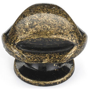 """Traditional Knob, 1-5/16"""" D, Burnished Brass"""