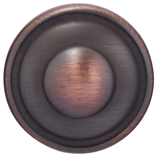 """View a Larger Image of Traditional Knob, 1-7/32"""" D, Brushed Oil-Rubbed Bronze"""