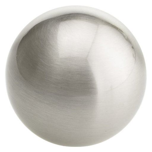 """View a Larger Image of Traditional Knob, 1-9/16"""" D, Brushed Nickel"""