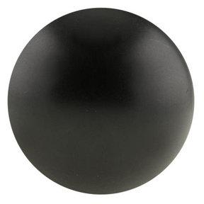 "Traditional Knob, 1-9/16"" D, Matte Black"