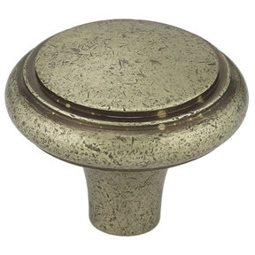 """Traditional Knob, 1-9/16"""" D, Pewter Bronze"""