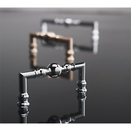 """View a Larger Image of Traditional Pull, 3-3/4"""" Center-to-Center, Brushed Nickel"""