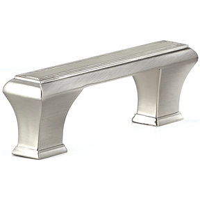 """Traditional Pull, 3-3/4"""" Center-to-Center, Brushed Nickel"""