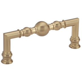 """Traditional Pull, 3-3/4"""" Center-to-Center, Champagne Bronze"""